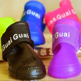Colorful Dog Pet Boots Rubber Water Protective Pet Shoes Booties Waterproof Rain L005