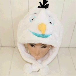 Wholesale new FROZEN frozen Olaf kids hat caps snowman Cartoon animal plush hat winter comfortable Elsa Anna Children s Caps Beanie Skullcap Earflaps