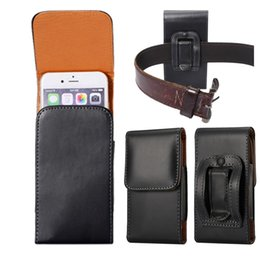 Wholesale Universal PU Leather Vertical Tactical Waist Pack Bag Belt Pouch Phone Case Cover For Samsung Galaxy S4 S5 S6 Edge Plus Note Mega A7