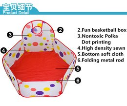 Wholesale M Outdoor Kid Play Tent Round Foldable Ocean Ball Pool With Basket Kids Toys For Christmas S30260