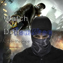 Wholesale Watch Dogs Aiden Pearce Cosplay Face Tube Mask Cap SET Hat Video Game WATCHDOGS Costume Baseball Caps