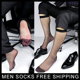 Men's Ultra Sheer Black Dress Socks Long Hose Visual Male TNT suit Socks Formal Style Free shipping
