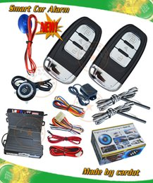 Wholesale cardot top smart car security system passive keyless entry auto lock or unlock car door push button start stop engine