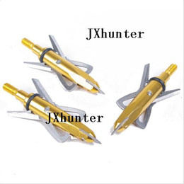 12 pieces 2 blades arrowhead arrow tip broadhead for compound bow hunting 100gr in golden color free shipping