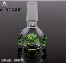 Wholesale Andeer Fgg Glass Bowl with Honeycomb Screen Round male joint MM optional fit for Glass bongs Glass water Pipe and Ashcatcher oil rig