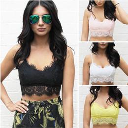 New Fashion Womens Lace Bralette Bralet Unpadded Bra Bustier Crop Top Cami Tank Zipper Back