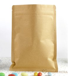 100pcs lot- 13x21cm Aluminum coated Zip-lock Kraft Paper Pouch Bag Dried Food Nuts Tea Packaging Bags