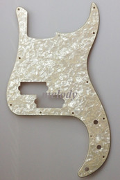 Wholesale For US Standard Precision Bass Pickguard Ply Ivory White Pearl
