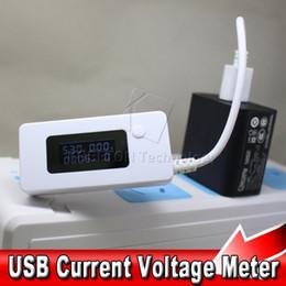 Wholesale 2015 LCD Mini Voltímetro Digital USB Voltaje Meter Current Meter Batería móvil de energía Micro USB cargador Tester Detector A3