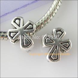 Wholesale Livraison gratuite Tibétain de la Croix d Argent Perles intercalaires en Fit Charms Bracelet x11mm Pour la Fabrication de Bijoux d Artisanat BRICOLAGE