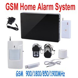Wholesale Wireless GSM Home Intelligent Alarm System Quad Band Support iOS Android Application SMS Auto Dial Call