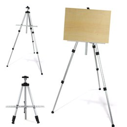 Wholesale Brand New High Quality Aluminium Alloy Folding Outdoors Painting Easel Frame Adjustable Tripod Display Shelf and Carry Bag