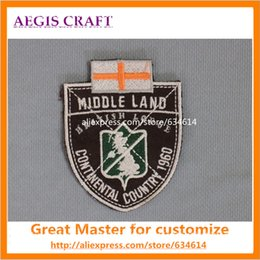 Wholesale embroidery badge velcro support logo custom