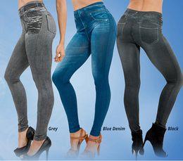 Fitness Clothing for Women Jeggings Jeans for Women Seamless Slim Jeggings Printed Leggings Real Pocket Jeans Look