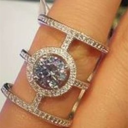 Wholesale Knuckle ring sterling silver jewelry wedding wedding rings charm crystal decorations gift western style special dress up