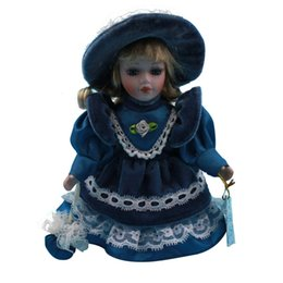 Wholesale cm Mini Continental Victorian style home decorative porcelain dolls Baby toys Birthday Christmas gifts Color BLUE