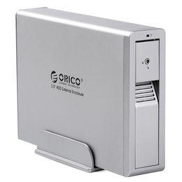 Wholesale New ORICO US3 quot SATA External HDD Enclosure External Hard Disk Drive Enclosure Support TB Hard Drive Tool Free Silver D3353D