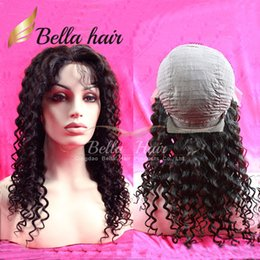 Curly Human Lace Front Wig Brazilian Hair Deep Curly Wave Human Hair Wigs for Black Women Julienchina Bellahair