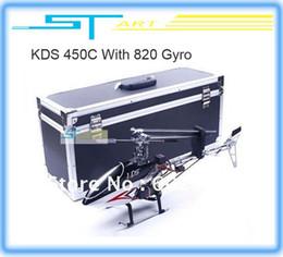 2017 kds hélicoptère Gros-KDS 450C RTF hélicoptère 6ch 7CH 2.4G 3D commande radio 450 prêt à voler KDS800 Gyro Alu cas KDS450C Livraison gratuite frais un cadeau de jouets kds hélicoptère sur la vente