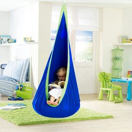 Wholesale Hot Sales Child Canvas Swing Chair Indoor Casual Reading Book Tent Outdoor Hanging Inflatable Seat Kids Hammocks VE0034 salebags
