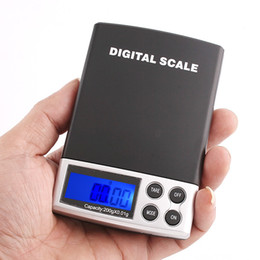 Wholesale 200g x g DIGITAL Scales Gram pocket Balance Weighing Scale H1305 blue backlight