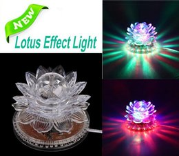 Wholesale Lotus Effect Light Auto Rotating W LED RGB Crystal Stage Light Bead Lamp for Home Decoration DJ Disco Bar Best Gift