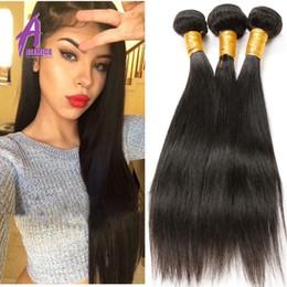 Peruvian Virgin Hair Straight 3pcs lot Rosa Hair products Unprocessed Human Hair 6a Grade Peruvian Hair Bundles Natural Black New Arrivals