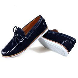 Wholesale Drop Shipping Hand Sewn Handsome Men Brand Sneakers Eu New Men Casual Footwear Urban Style Man Soft Leather Flat Shoes X27042