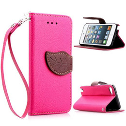 Leaf Wallet PU Leather Flip Case Stand With Credit Card Slot Holder For iPhone 5 5S 6 6S Plus
