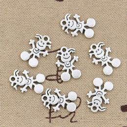 Wholesale 250pcs Charms baby girl mm Antique Zinc alloy pendant fit Vintage Tibetan Silver DIY for bracelet necklace