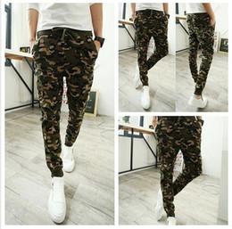 Wholesale Camo baggy Joggers New Arrival Fashion Slim Fit Camouflage Jogging Pants Men Harem Sweatpants Cargo Pants for Track Training