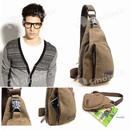Wholesale Men Chest Canvas Bags Vintage Man Messenger Bags For Waist Chest Casual Outdoor Hiking Sport Casual Male Retro Shoulder Bag Free DHL