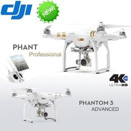 2016 4k caméra drone Gros-In Stock DJI Phantom 3 Advanced Professional quadcopter RC Drone Quad Copter RTF FPV Avec expédition 4K 1080P HD Caméra EMS gratuit 4k caméra drone promotion