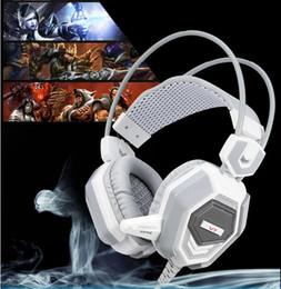 Acheter en ligne Casque stéréo xbox-Casque intra-auriculaire Casque intra-auriculaire surround 3.5mm V7 Surround avec microphone pour PC Cafés internet CF LOL dédiés