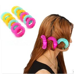 2015 New Wholesale 12Pcs Lucky Donuts Curly Hair Curls Roller Hair Styling Tools Hair Accessories For Women