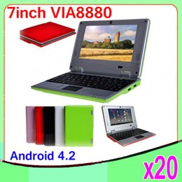 Wholesale original inch Mini Netbook WIFI android Laptop G flash VIA8880 Ghz notebook ZY BJ