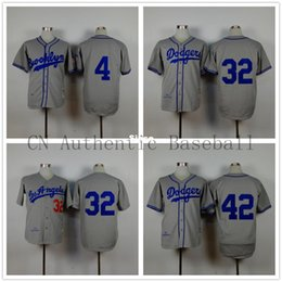 Wholesale 30 Teams Men s Duke Snyder Sandy Koufax Jackie Robinson Los Angeles Dodgers grey throwback brooklyn jersey LA cheap Authentic shirt