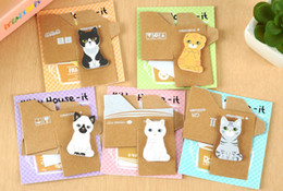 Coussinets de chat à vendre-Cartoon notes autocollantes notes autocollantes animaux Cat Scratch Pad Carton de notes autocollantes