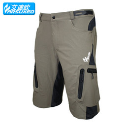 Wholesale ARSUXEO Mens Brand Outdoor Sports Cycling Clothing Downhill MTB Shorts Mountain Bike Bicycle Shorts Wear Jersey