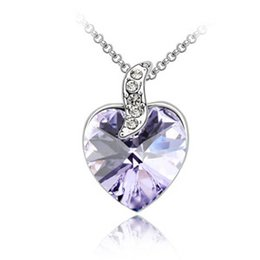Korean Fashion Bridal Wedding Jewelry Crystal Pendants Necklaces Charm Accessories For Women Made With Swarovski Elements 1382