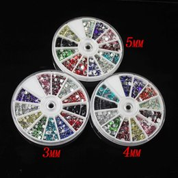 Resin Rhinestones 12 Colors 3mm 4mm 5mm Rhinestones Flatback Round Shape Silver Foiled Wheel Perfect For Reselling Diy Beads