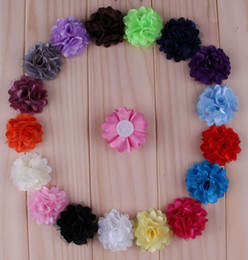 Wholesale Price Lovely Chiffon Mesh Flowers Artificial Flatback Fabric Tulle Mesh Flowers Children Hair Accessories Wedding Headbands Flower