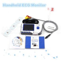 Wholesale 2 Packs Hoot sales New High resolution LCD display Handheld ECG EKG Monitor with illuminated background
