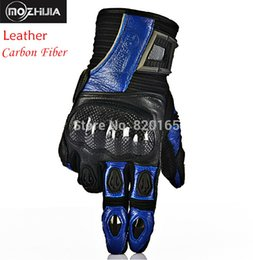 Wholesale-New Carbon Fiber Leather Motorcycle Gloves Racing Gloves Breathable Wearable Protective Gloves Gears Motos Guantes Luvas