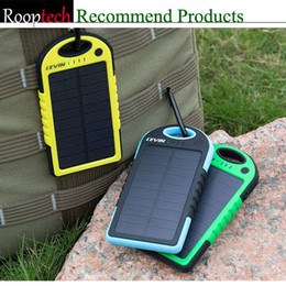 Wholesale Universal Solar Charger Dual USB mAh cell phone Battery solar Panels Waterproof Portable Power Bank For iPhone ipad camera