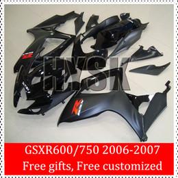 Wholesale Blue White Fairing Kits For Suzuki Aftermarket Body Cover GSXR GSXR K6 GSXR600 GSXR750 Racing Race Bike Fairings
