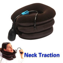 In Stock Air Cervical Neck Traction Massager Soft Brace Device Unit for Headache Head Back Shoulder Neck Pain Relaxation 2015