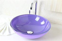 Wholesale Pastoral style vanity lavabo glass basin Hot Sale Glass Basin Wash Basin Glass Bowl Tempered Glass Vessel Sink With Faucet Set N