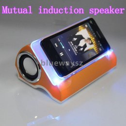 Wholesale 2014 HOT SALE Newest Colorful Audio Amplifying Mutual Induction Speaker wireless speaker for ipad Smart Phone DHL Free Ship