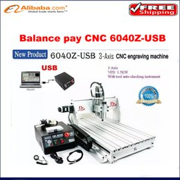 Wholesale cnc machinery The balance pay for CNC Z USB Router best cnc engrave machine with USB post KW spindle motor